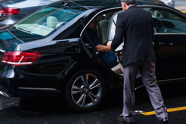 luxury service - limousine service stock photos and pictures