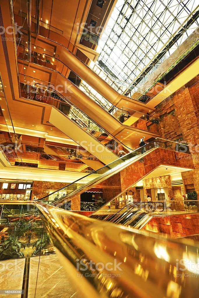 luxury shopping mall in NYC royalty-free stock photo
