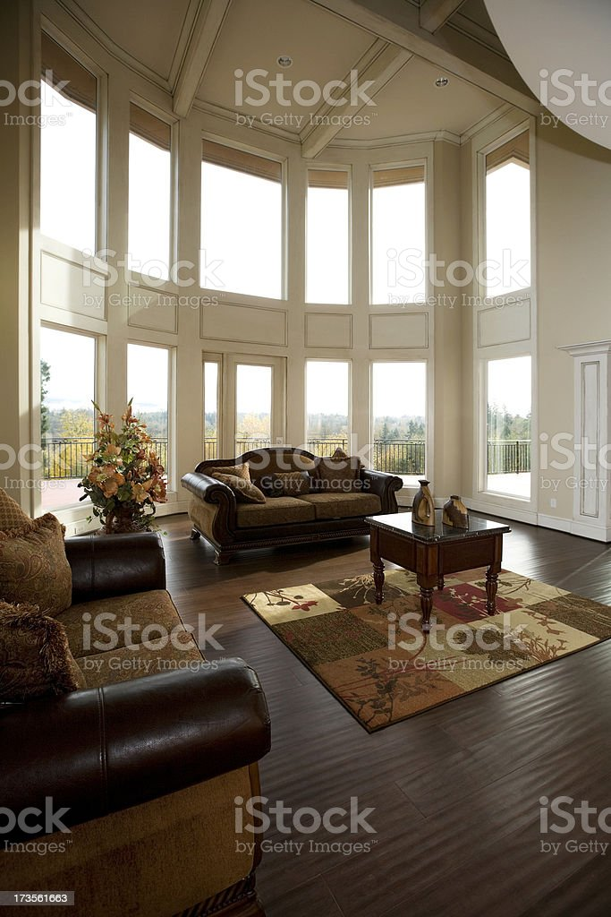 Luxury Showcase Living Room Interior architectural design royalty-free stock photo