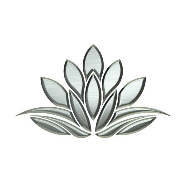 luxus silber lotus pflanze bild - lotus symbol stock-fotos und bilder