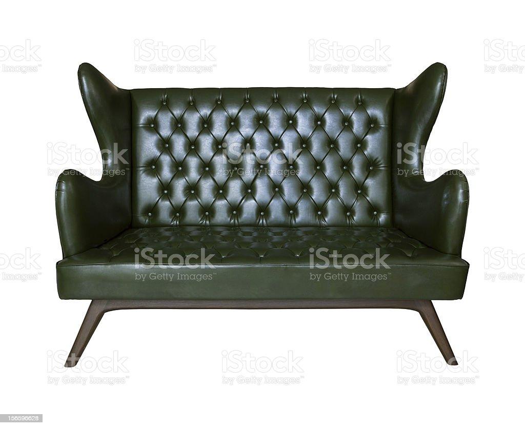 luxury sofa leather isolated white royalty-free stock photo