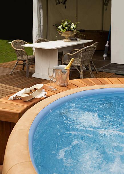 luxury spa bath stock photo