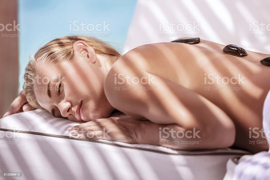Luxury spa resort stock photo
