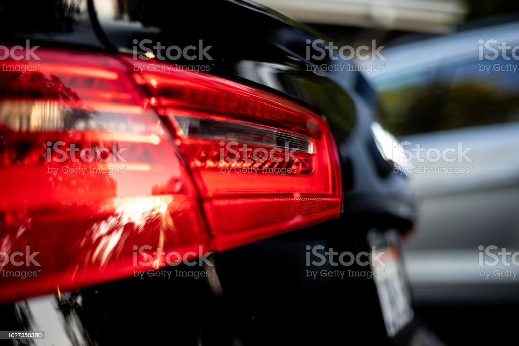 Luxus, Sport Auto zurück Bremse/Tail/Rear Light - rot - Lizenzfrei Auto Stock-Foto