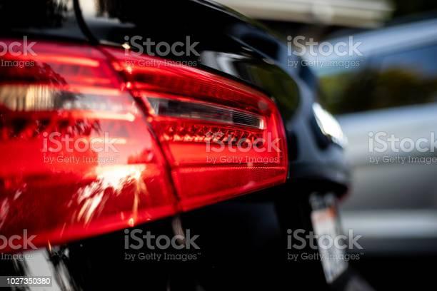 Luxus Sport Auto Zurück Bremsetailrear Light Rot Stockfoto und mehr Bilder von Auto