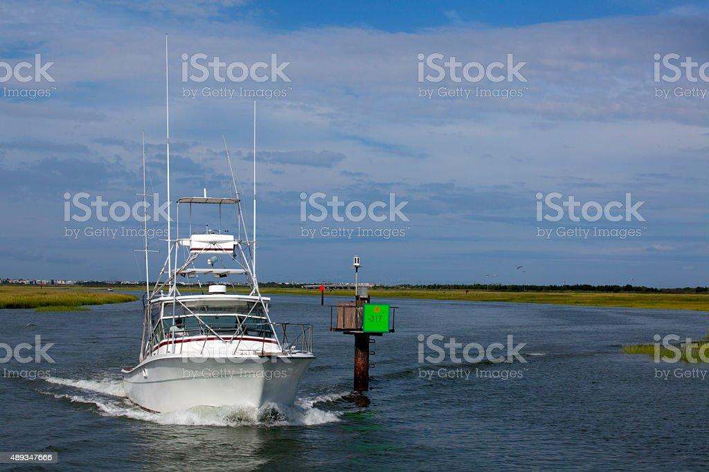 Luxury Sport Fishing Boat stock photo