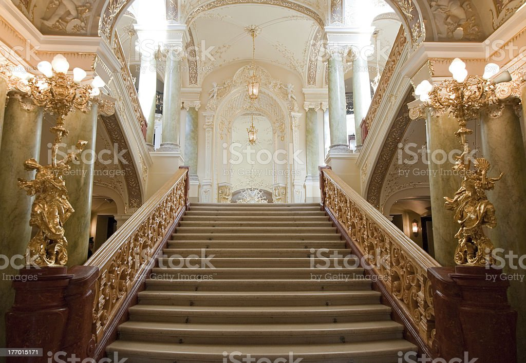 luxury stairway stock photo
