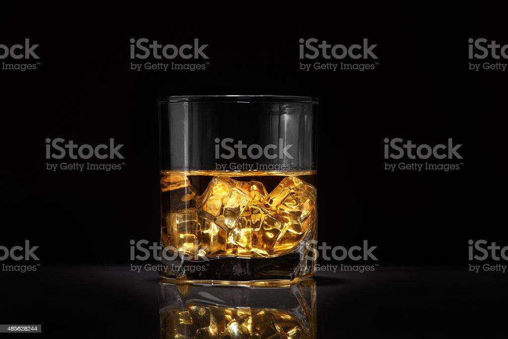 Luxury still life of whisky glass stock photo