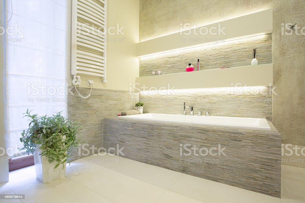 Vasca Da Bagno In Pietra Di Lusso Fotografie Stock E Altre