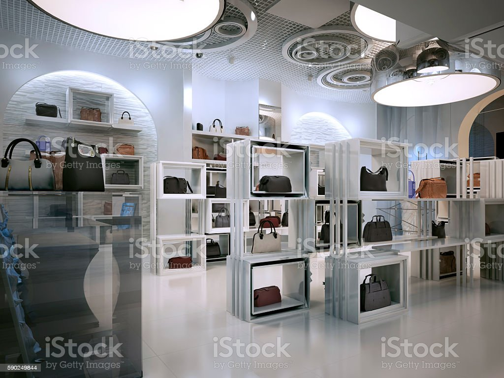 Luxury Store Interior Design Art Deco Style With Hints ロイヤリティフリーストックフォト