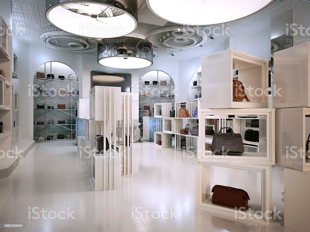 Luxury Store Interior Design Art Deco Style With Hints Stock Photo ...