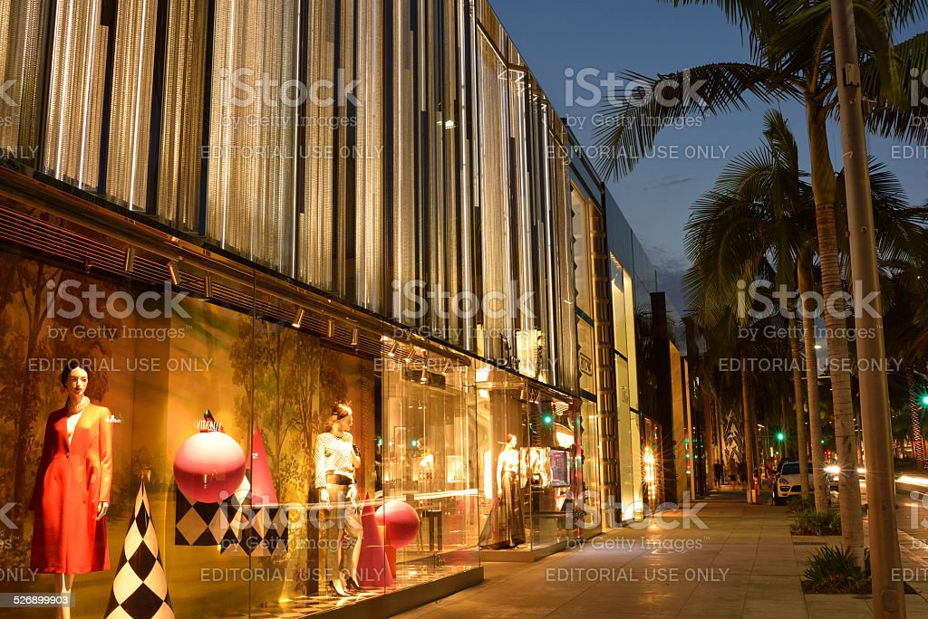 Luxury Stores on Rodeo Drive in Beverly Hills stock photo