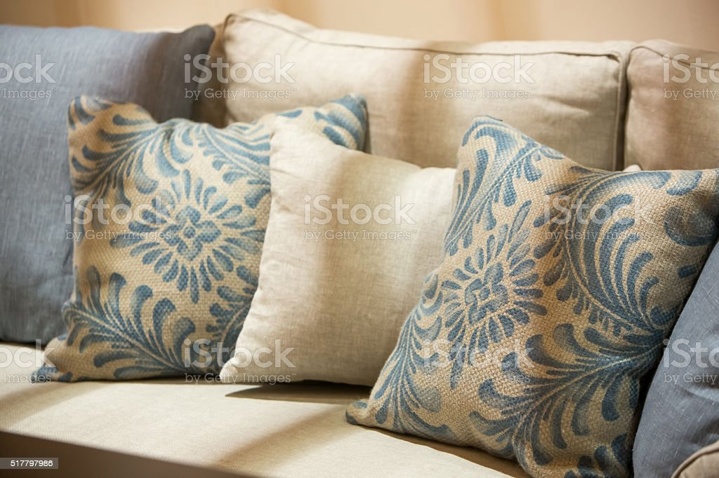 Luxury style fabric sofa stock photo