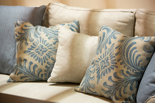 luxury style fabric sofa - country fashion stock photos and pictures