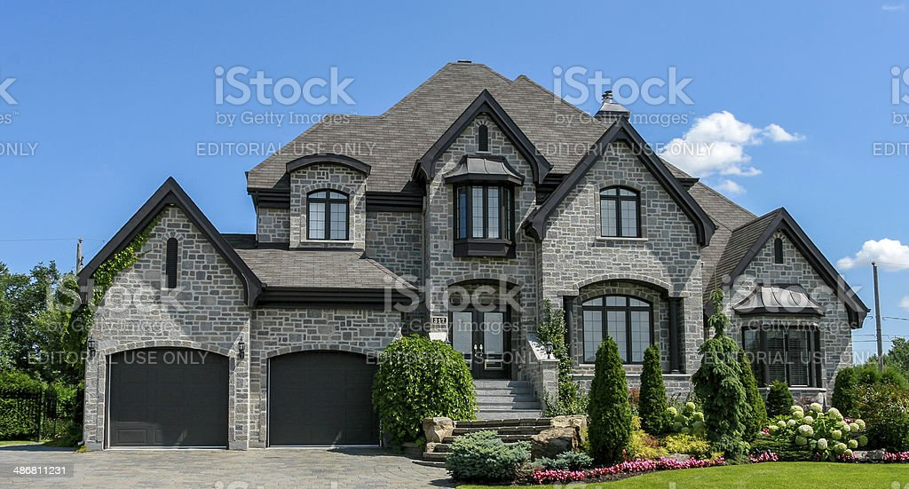 luxury suburban house exterior in summer stock photo more pictures