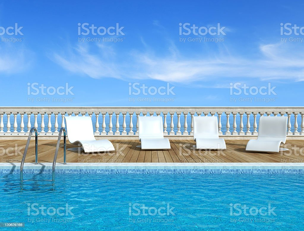 Luxury swimming pool stock photo