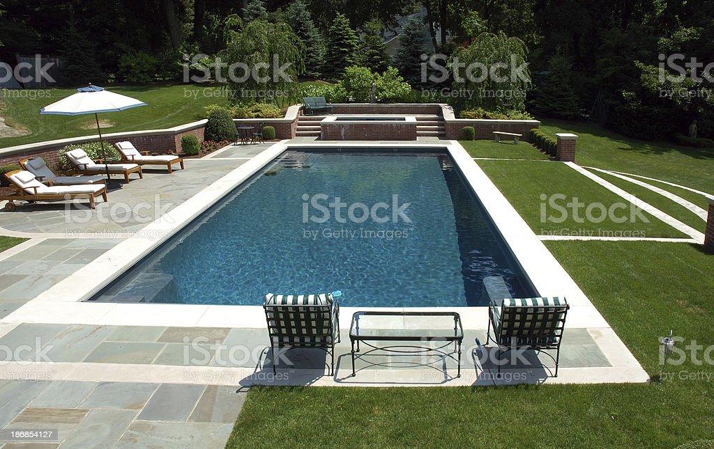 Luxury Swimming Pool stock photo