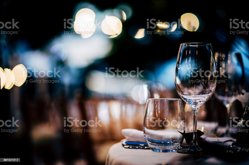 Luxury Table setting for party, Christmas, holidays and weddings. royalty-free stock photo