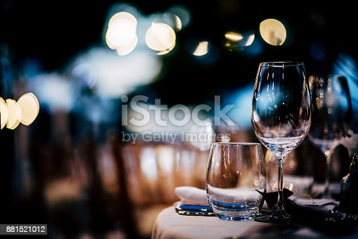 istock Luxury Table setting for party, Christmas, holidays and weddings. 881521012