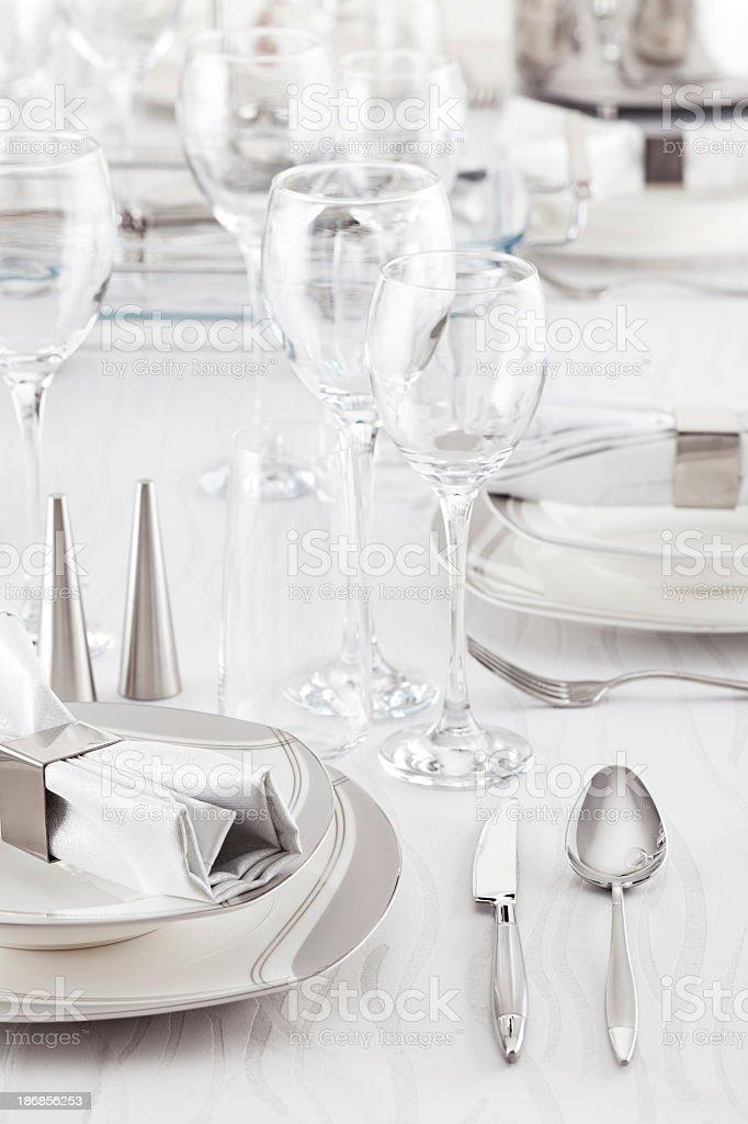 Luxury Table Setting royalty-free stock photo