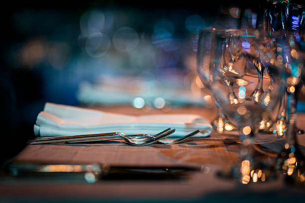 luxury table setting. - food and drink stock photos and pictures