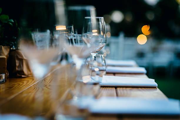 Luxury table setting. stock photo