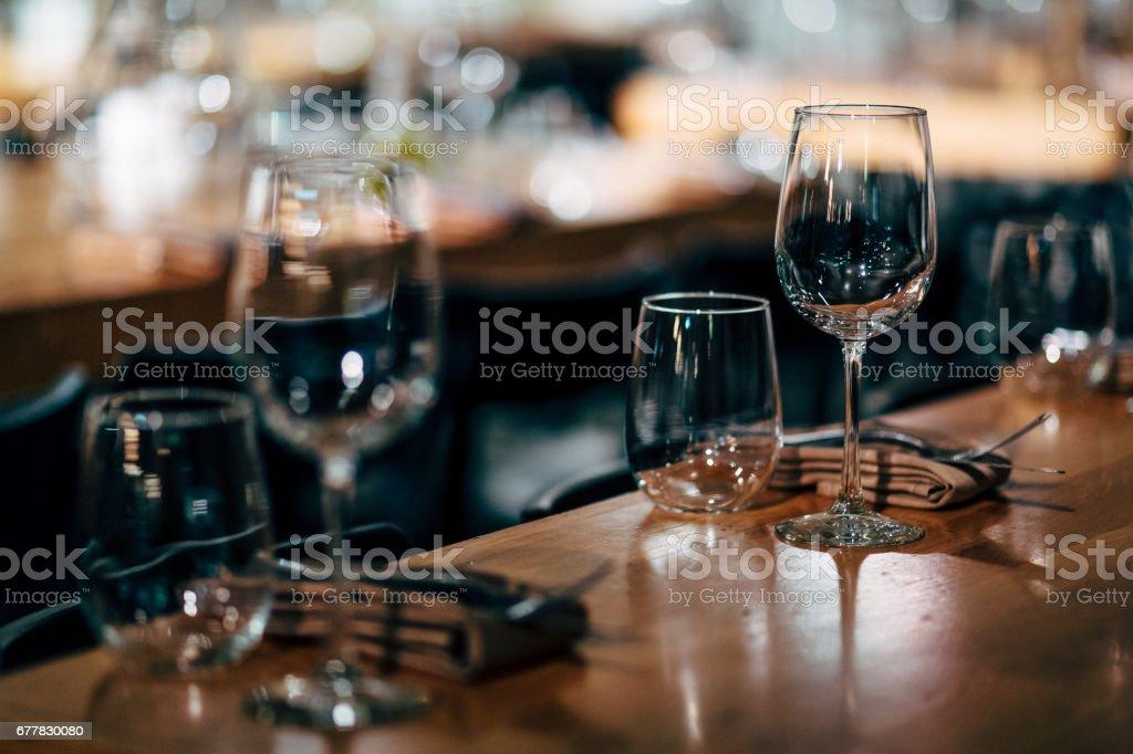 Luxury Table setting. royalty-free stock photo