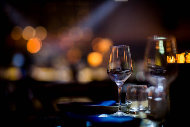 luxury table setting - date night stock pictures, royalty-free photos & images