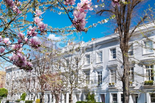 istock Luxury terraced houses at West-London. 94280232