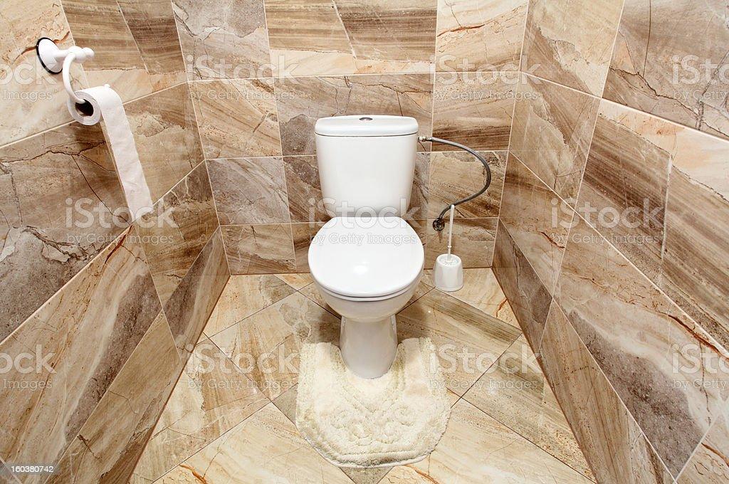 Luxury toilet royalty-free stock photo