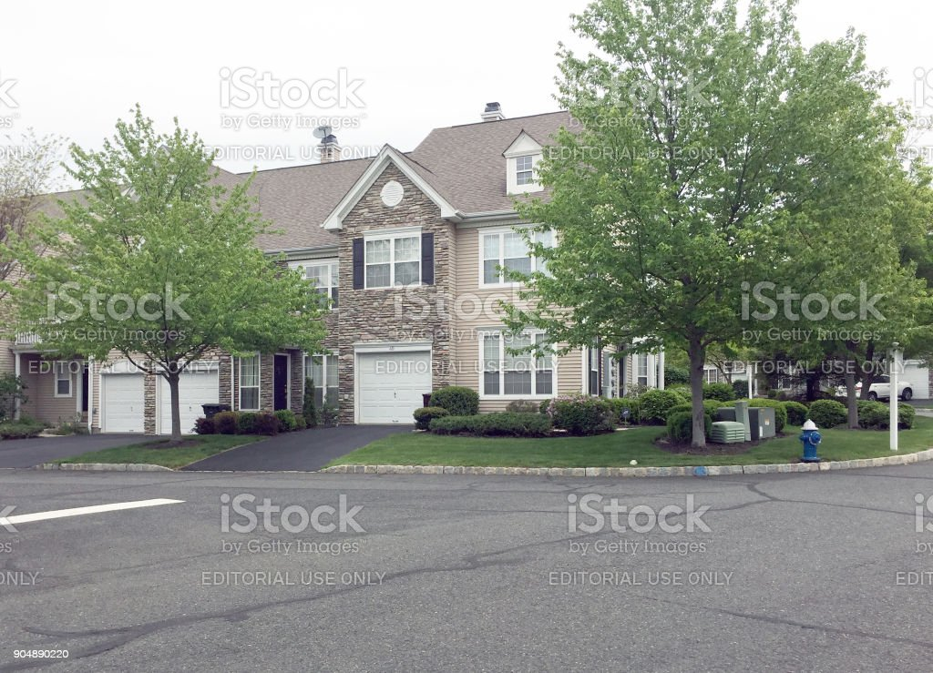 Luxury townhomes in New Jersey stock photo