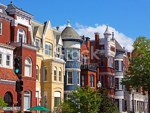 istock Luxury townhouses of the US capital. 482267822