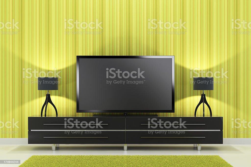 Luxury TV Room royalty-free stock photo
