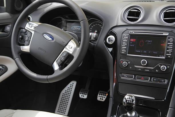 Luxury vehicle interior stock photo