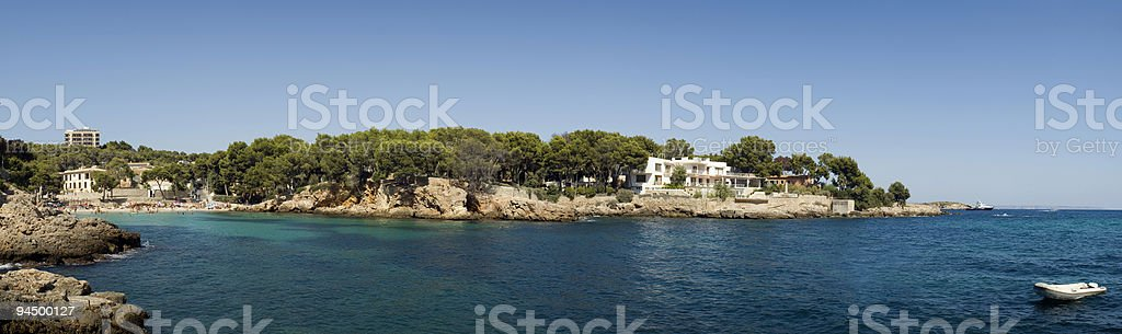 Luxury villa and cove. royalty-free stock photo