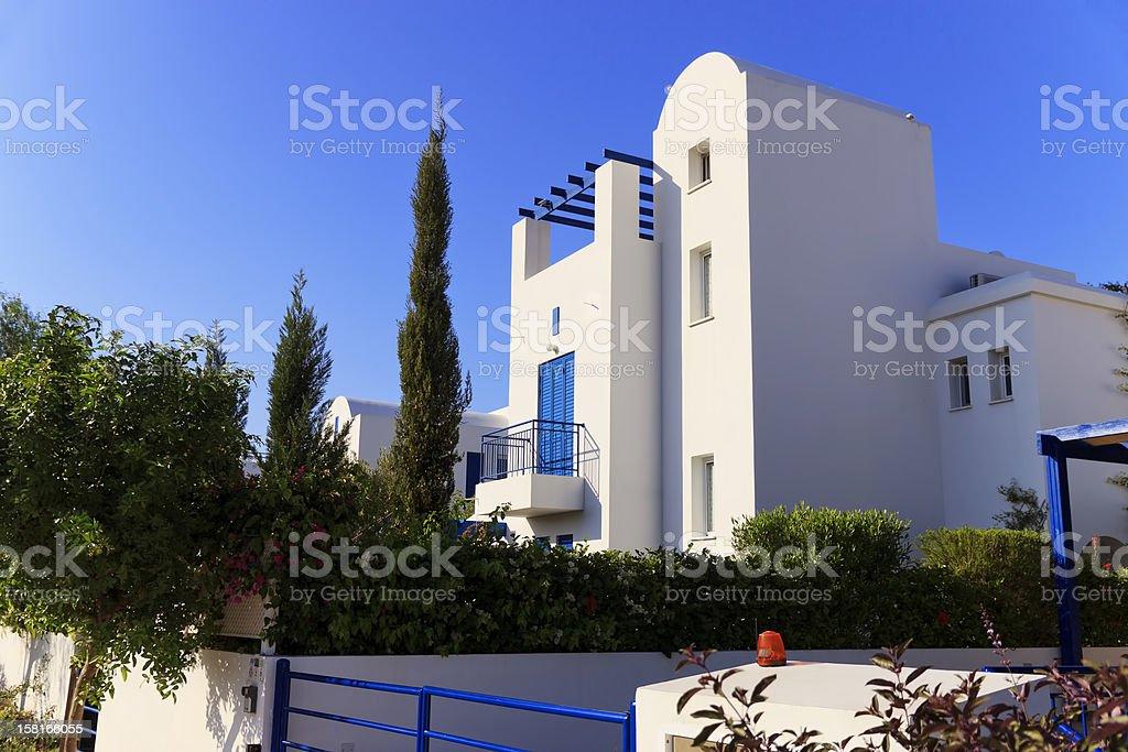 Luxury villa exterior royalty-free stock photo