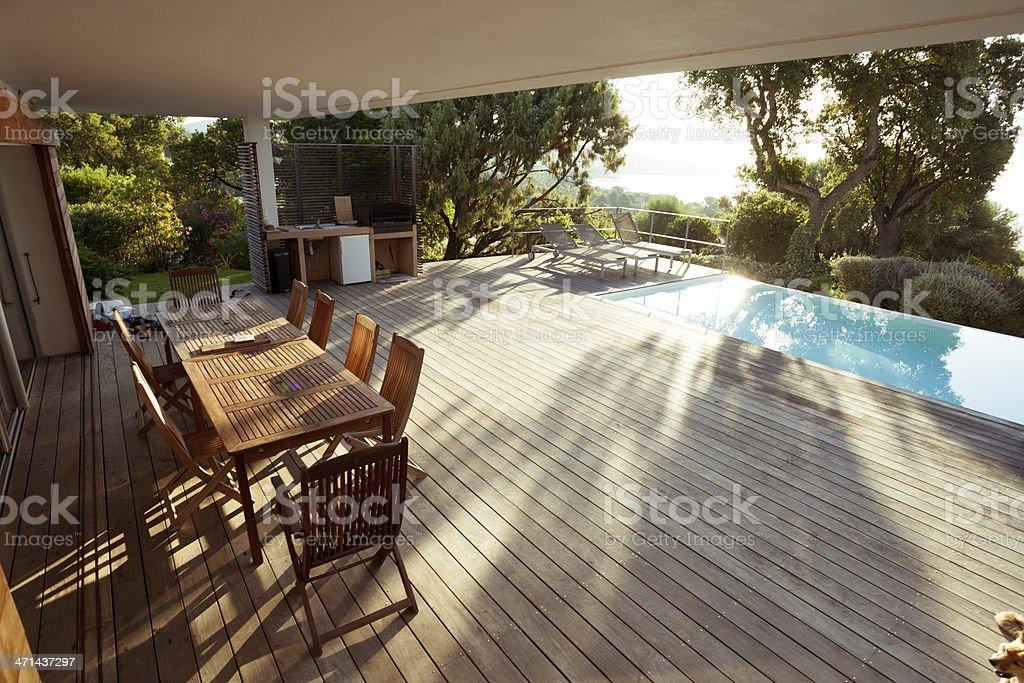 Luxury Villa Exterios stock photo