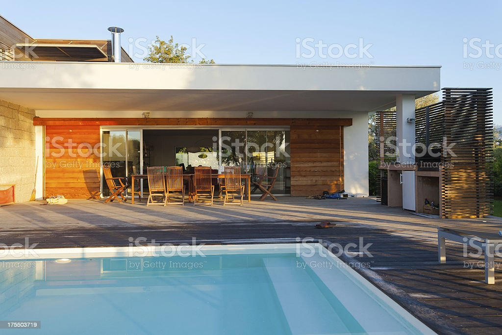 Luxury Villa with Swimming Pool royalty-free stock photo