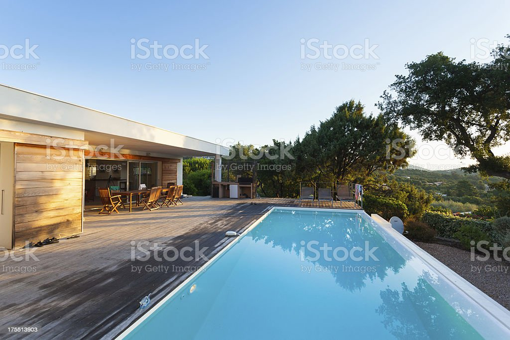 Luxury Villa with Swimming Pool stock photo