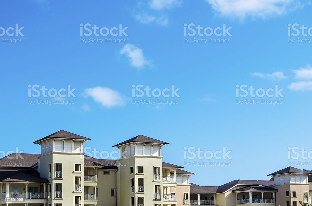 luxury villas against blue sky royalty-free stock photo