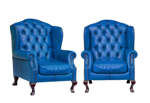 Luxury vintage blue armchair