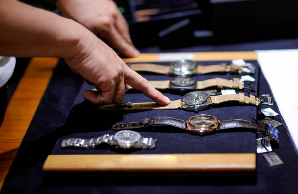 Luxury watch in shop Luxury watch in shop luxury watch stock pictures, royalty-free photos & images