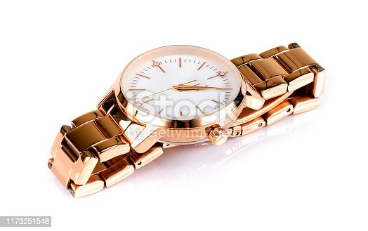 istock Luxury watch isolated on white background. 1173251548