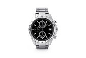 istock Luxury watch isolated on white background. With clipping path for artwork or design. Black. 1180244659