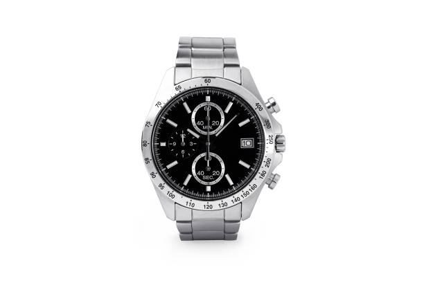 Luxury watch isolated on white background. With clipping path for artwork or design. Black. Luxury watch isolated on white background. With clipping path for artwork or design. Black. luxury watch stock pictures, royalty-free photos & images