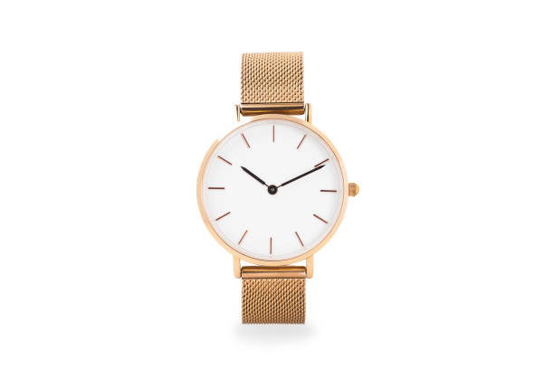 Luxury watch isolated on white background. With clipping path. Gold watch. Women watch. Female watch. Luxury watch isolated on white background. With clipping path. Gold watch. Women watch. Female watch. wristwatch stock pictures, royalty-free photos & images