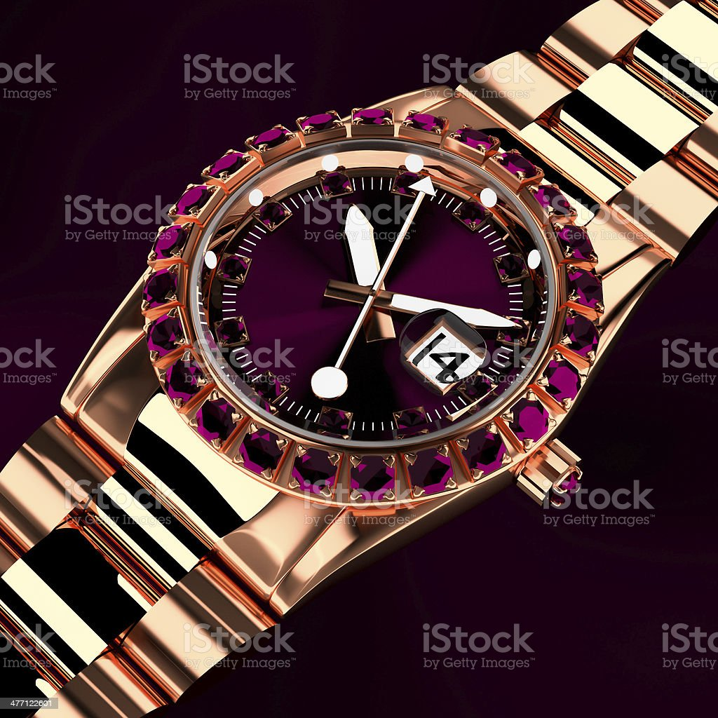 Luxury watch. royalty-free stock photo