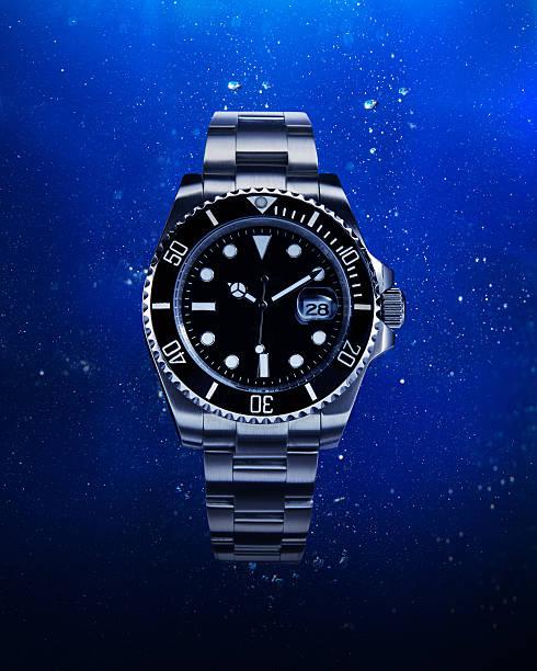 luxury watch - armband water stock-fotos und bilder