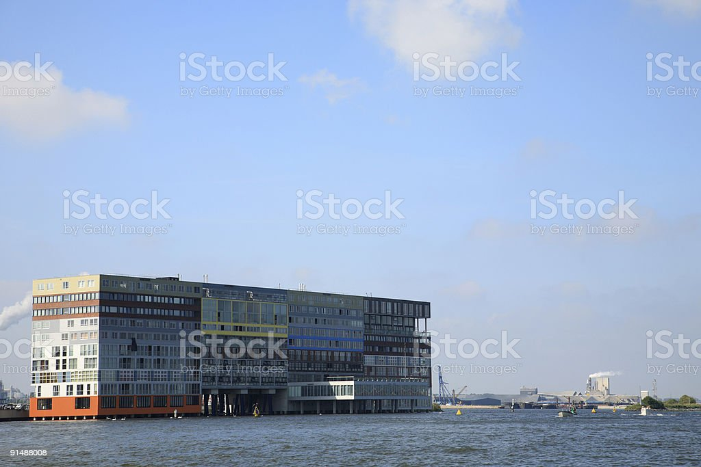 Luxury Waterfront Apartment Building royalty-free stock photo