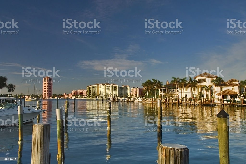 luxury waterfront development in south florida royalty-free stock photo